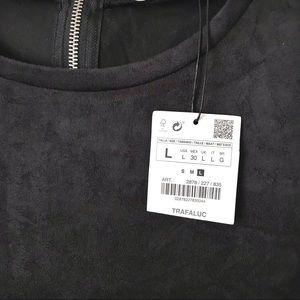 Zara Dresses - ZARA TRF Faux Suede Mini Dress